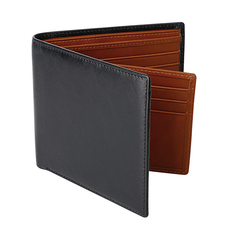 Men Business Classic Genuine Leather Card Holder Wallet