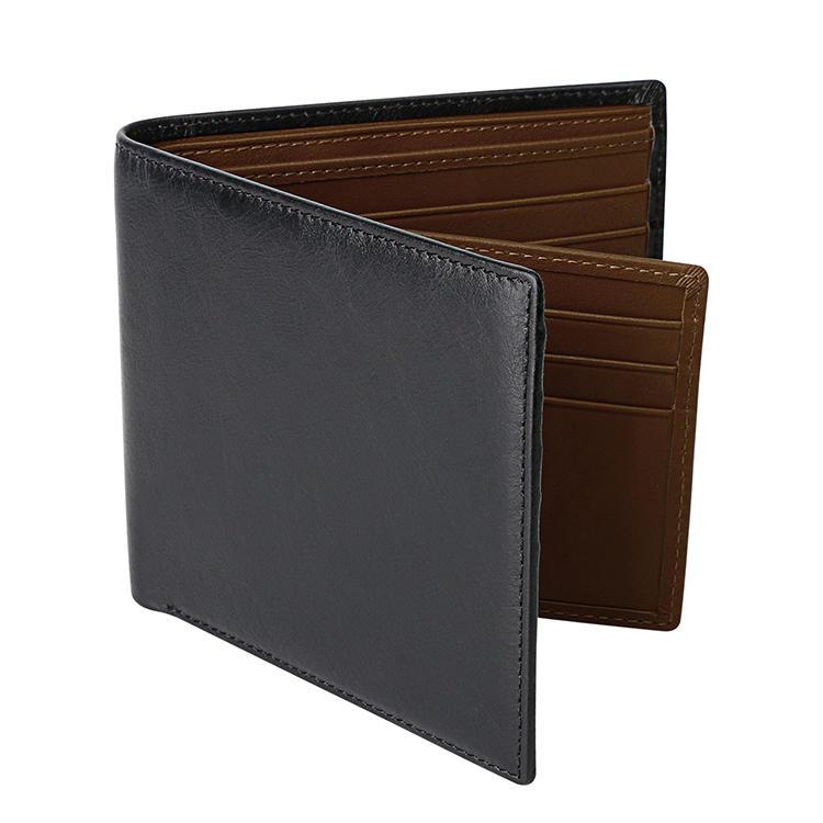 Men Wallet For Custom RFID Credit Card Holder Genuine Leather Wallet
