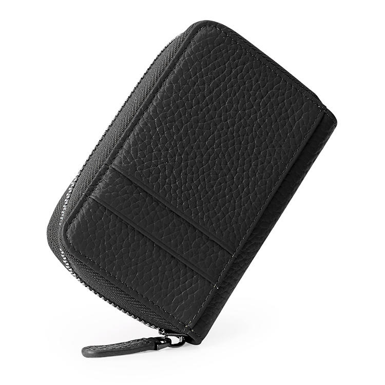 RFID Litchi  leather zipper purse credit card package multi-card card holder wallet multi-function wholesale