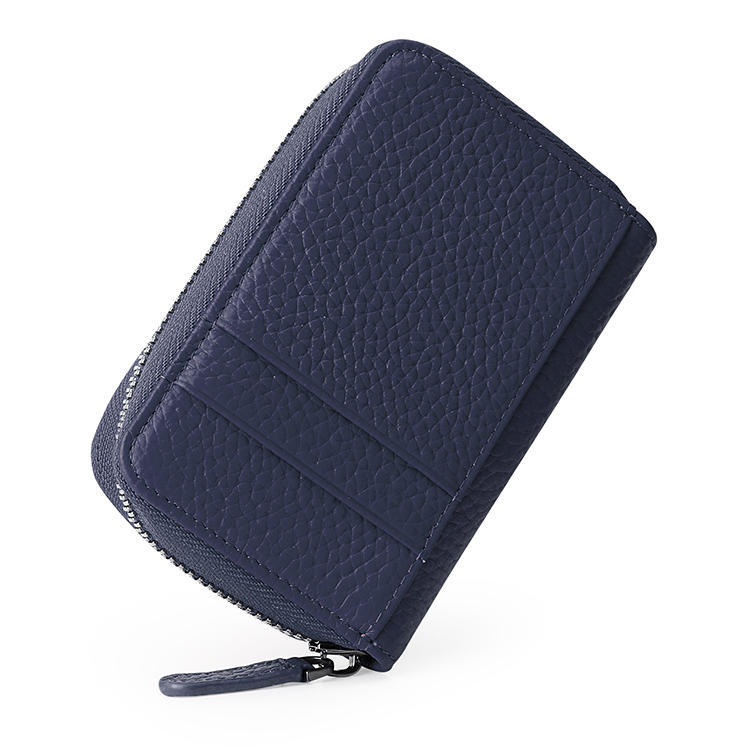 Best Selling Genuine Leather Zipper Wallet Credit Card Holder Wallet For Women