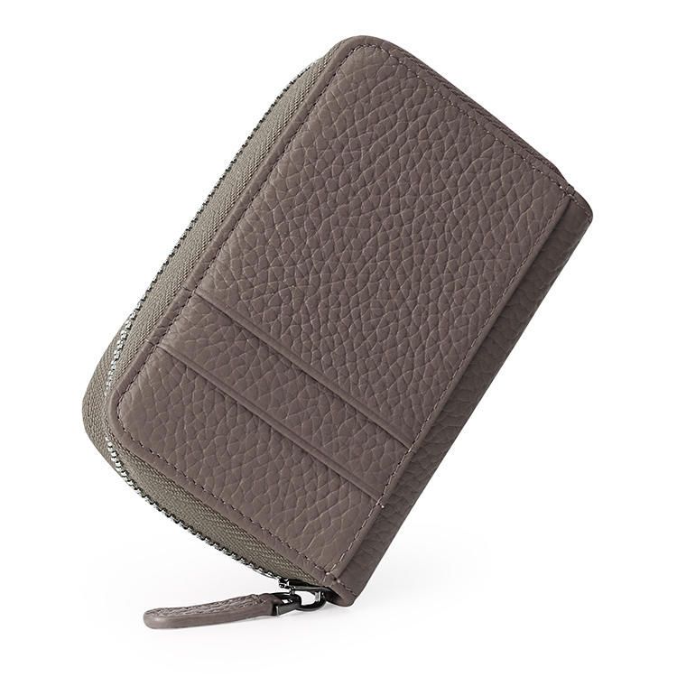 Men Women Leather Card Holder / Portable Coin Bag / Zipper card bag