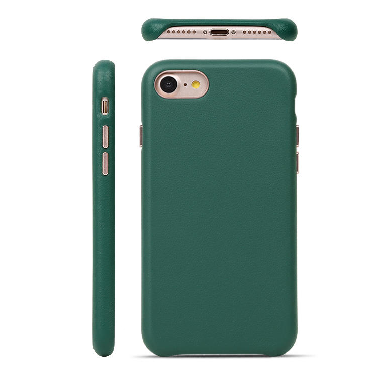 Official Luxury Genuine Leather Mobile Phone Case with Gentle Microfiber For iphone se 2