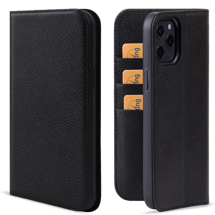Custom Mobile Phone Cases Genuine Leather Protective Mobile Phone Case For iPhone 12