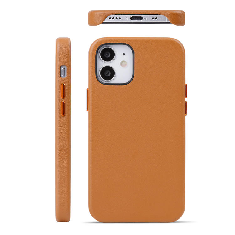 Newest Genunie Leather Phone Case OEM/ODM Customized leather Phone Back Cover For iPhone 12 5.7inch