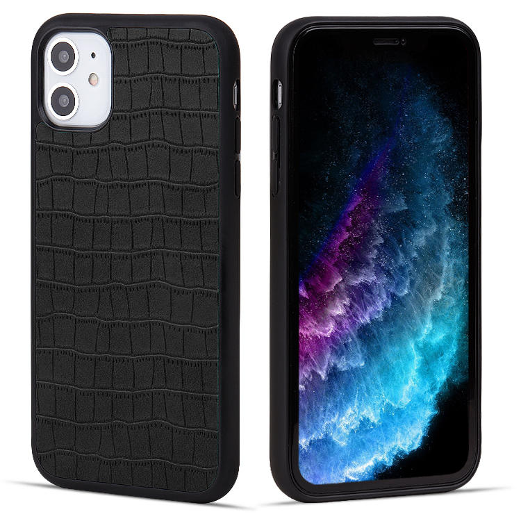 OEM/ODM Custom Leather Slim Mobile Phone Case Back Cover In Stock for iPhone 11 Pro Max for iPhone 12