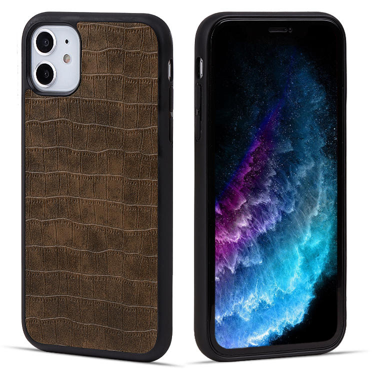 For iPhone 11 Leather Phone case Phone Accessories Back Cover Case OEM/ODM Custom LOGO