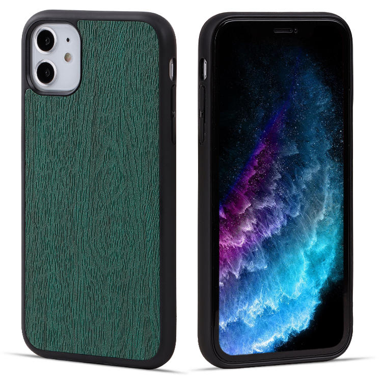 For iphone 11 Leather Phone Case with Custom Logo , Pu Leather Cell Phone Back Cover for iPhone 11