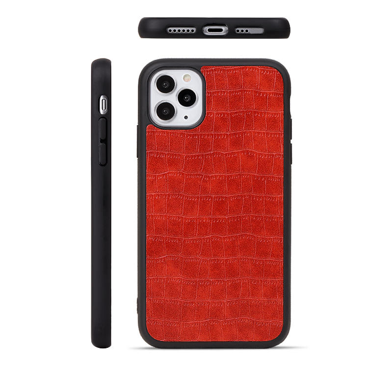 Mobile phone 360 protective anti-fall skin case leather phone case for iphone 11 phone back cover