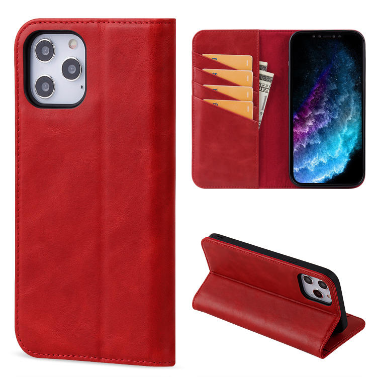 2020 New Design Wholesale custom Logo flip wallet phone case cell phone cover cases For iPhone 12 with 4 card holder
