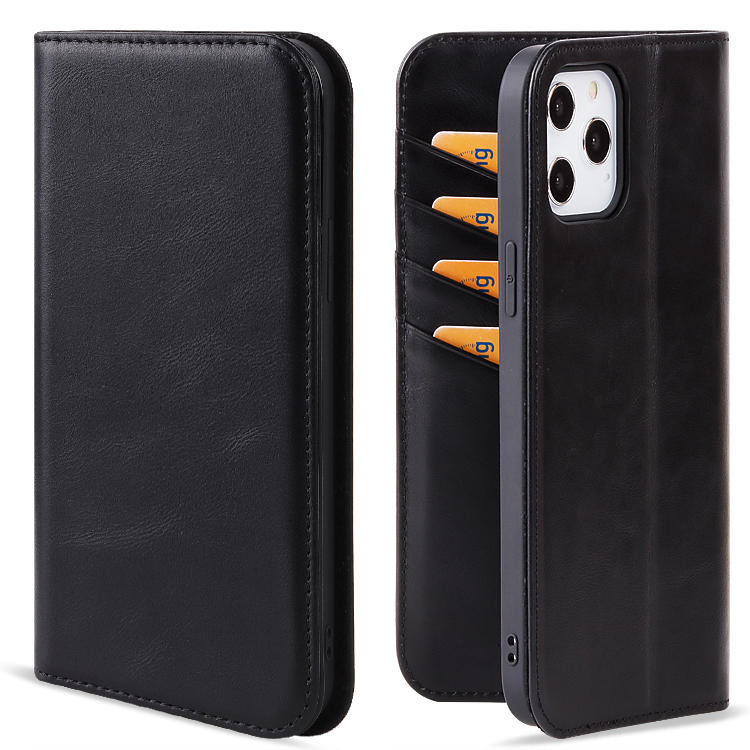 Genuine Leather Flip wallet phone case wallet clip Mobile Phone back cover cases For iPhone 12 Case with card holder