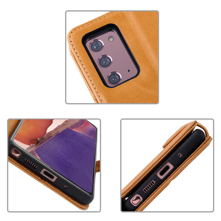 Genuine Leather Flip Phone Case Cover For Samsung Galaxy Note 20 Wallet Phone Case