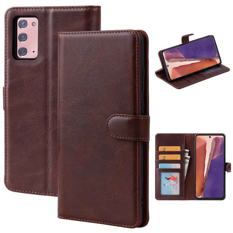 For Samsung Galaxy Note 20 Luxury Leather Wallet Case Flip Case Cover Phone stand Magnetic Closure