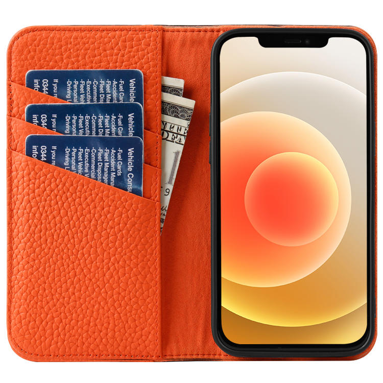 Genuine Leather For iphone 12 pro  Phone case High Quality Litchi Leather