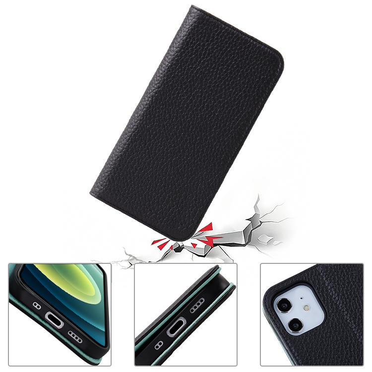 High Quality Litchi Leather Multifunction Flip Wallet Leather Phone Case For iphone 12 Pro Max Case