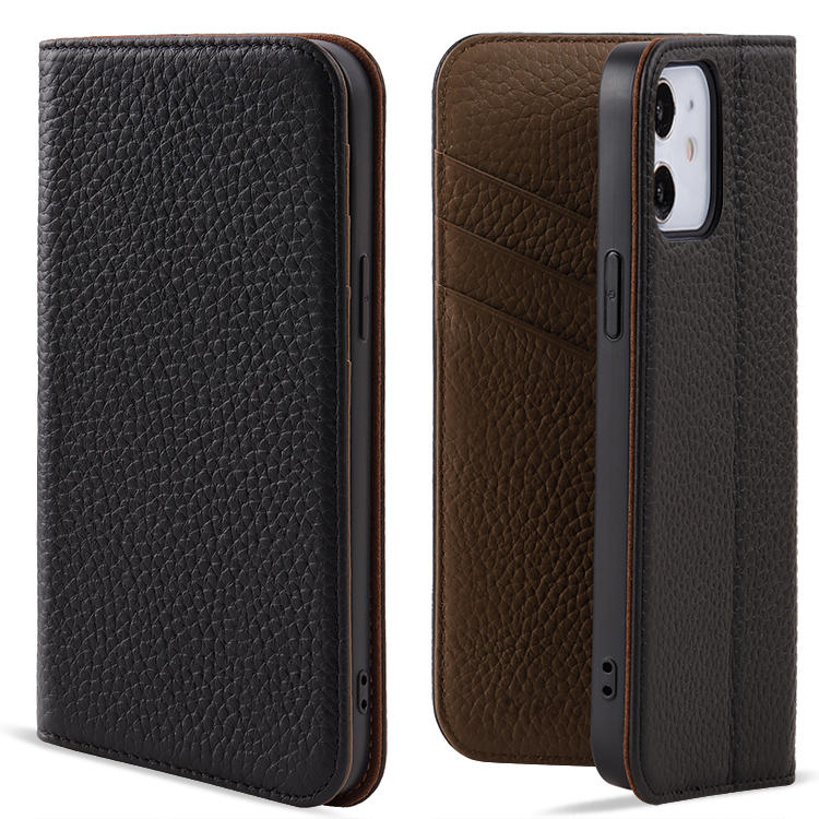 Leather Phone Case Genuine Leather Wallet Case For Iphone 12 Pro Max