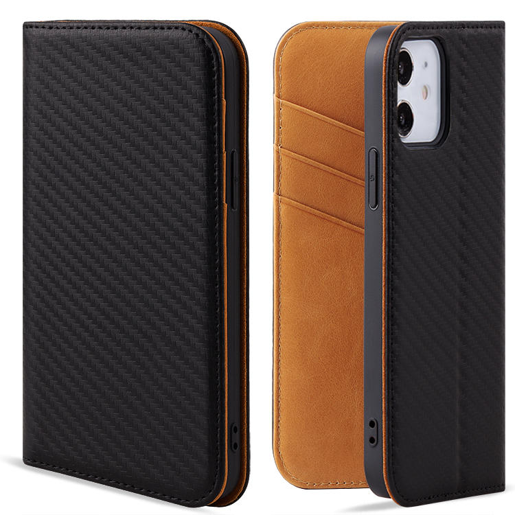 For Iphone 12 Premium Handmade Genuine Leather Cell phone Wallet Case