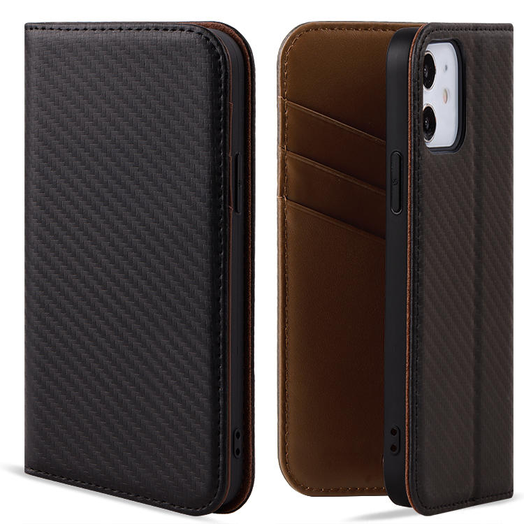 Premium Luxury Leather With Card Slot Magnetic Leather Flip Wallet Cell Phone Case  For iPhone 12 Pro, 12 Pro Max