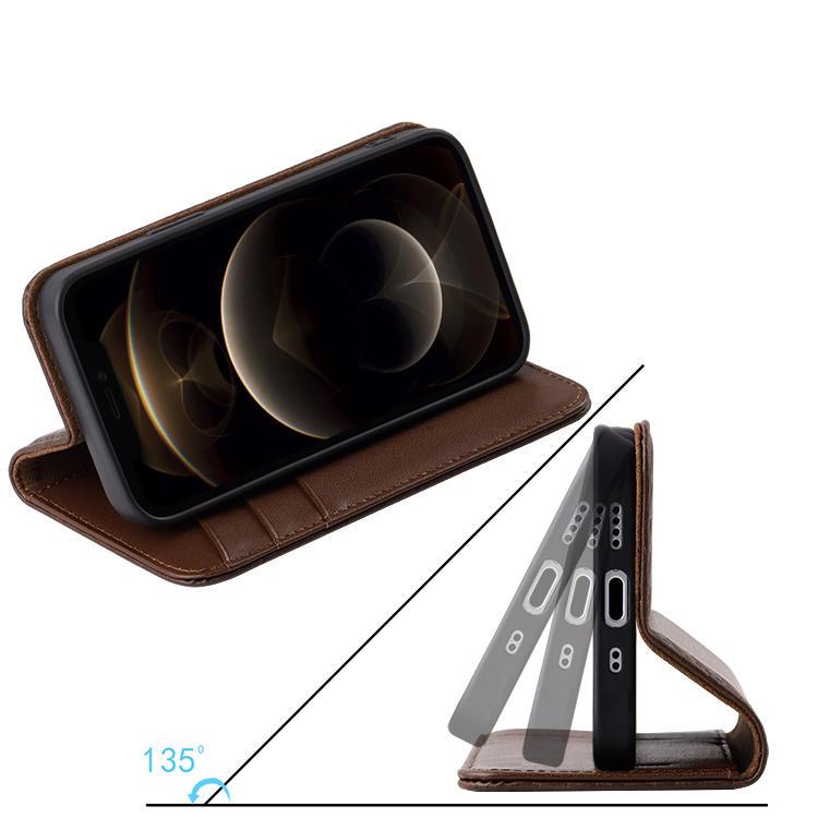 For iphone 12 Premium Carbon fiber Leather Flip Wallet Phone case
