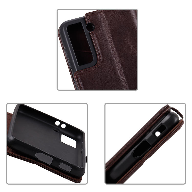 Luxury Flip Wallet Phone Case Genuine Leather Case For Samsung Galaxy S21 Case With Card Slot