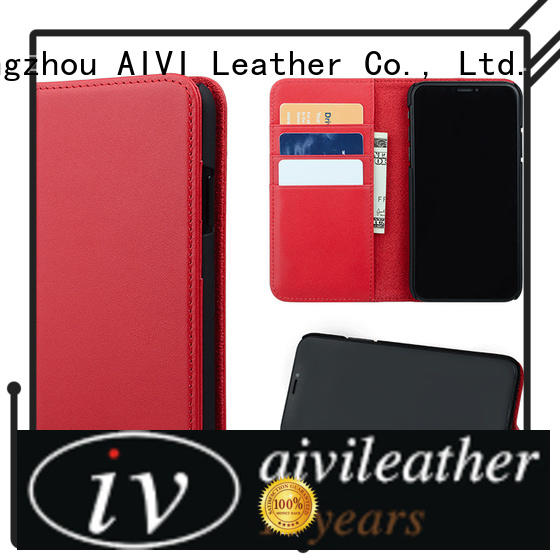 AIVI real leather iphone wallet case protector for iphone XR