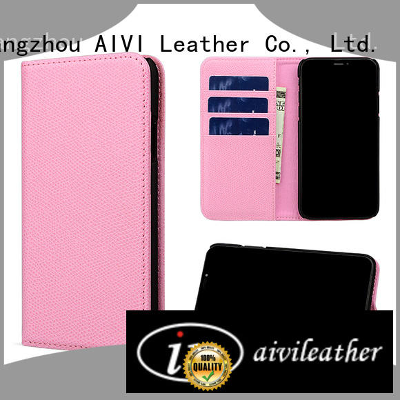 real tan leather iphone case grain iphone XS Max AIVI