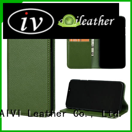 genuine leather phone wallet for sale iphone XR AIVI