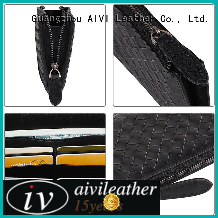 AIVI leather card holder wallet mens online for iphone X