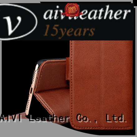 AIVI protection apple brown leather case supply for iphone XS