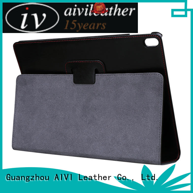 AIVI beautiful luxury leather ipad case factory for computer