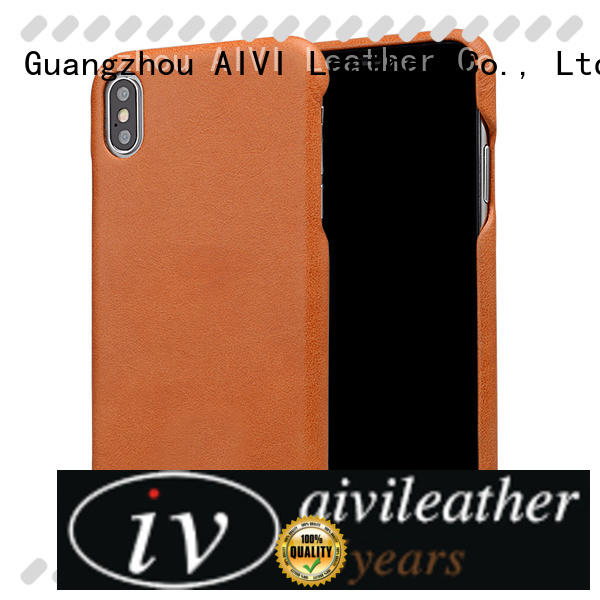 AIVI protective custom leather iphone case accessories for iphone XS Max