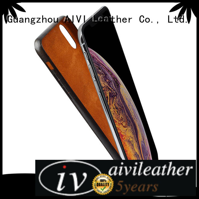AIVI durable iphone x leather case protector for phone XS Max