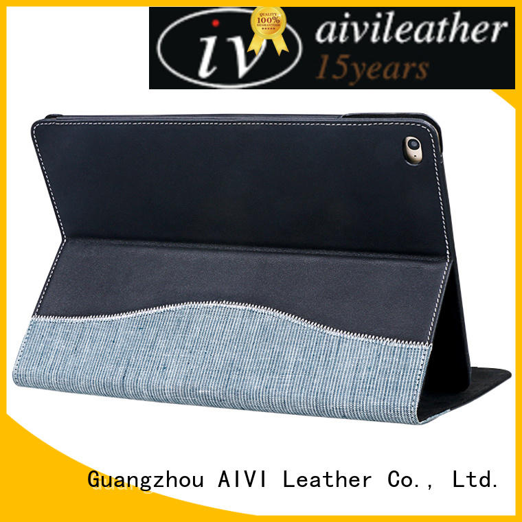 AIVI convenient luxury leather ipad case supply for computer