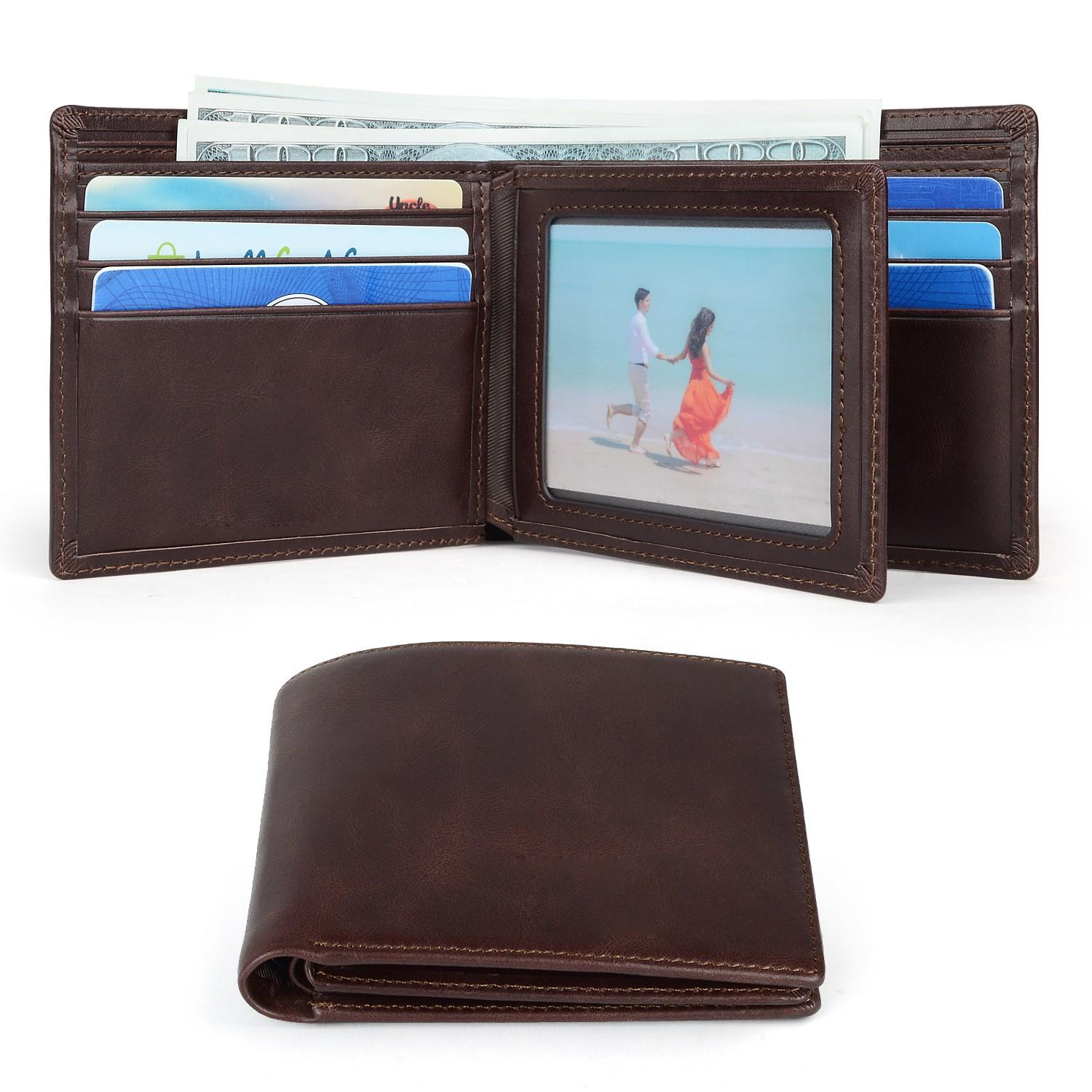 fashion custom leather wallets Manufacturer for travel-1