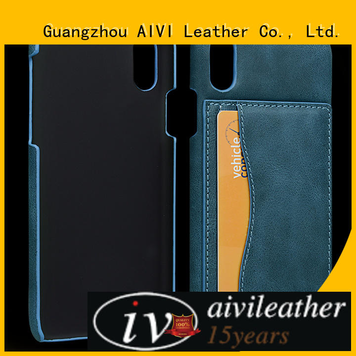 AIVI magnetic fine leather phone cases protector for iphone XR