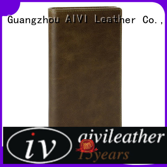 AIVI beautiful leather credit card wallet factory for iphone 8 / 8plus