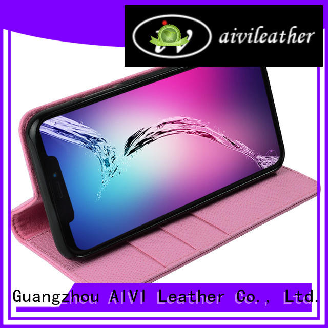 AIVI case leather credit card wallet factory for phone XS Max