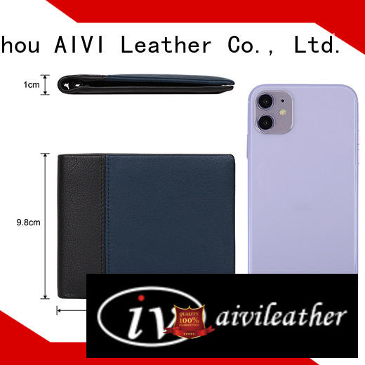 AIVI mens leather wallet with coin pocket supply for iphone XS