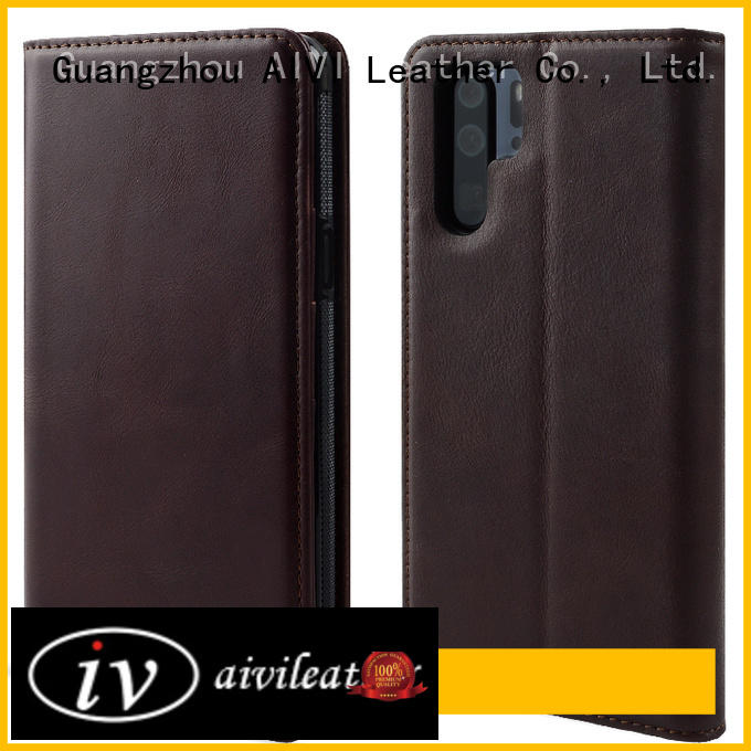customized leather phone cases for sale for HUAWEI P30