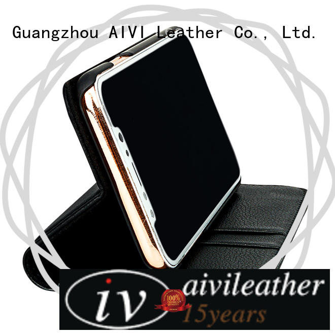 AIVI waterproof black leather case iphone for iPhone X/XS for iphone XS