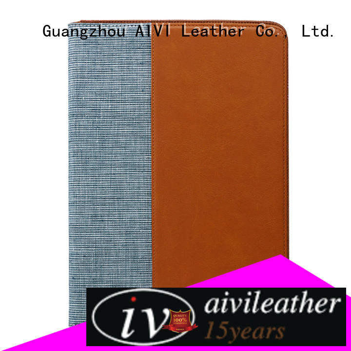 AIVI new arrive brown leather ipad case online for laptop