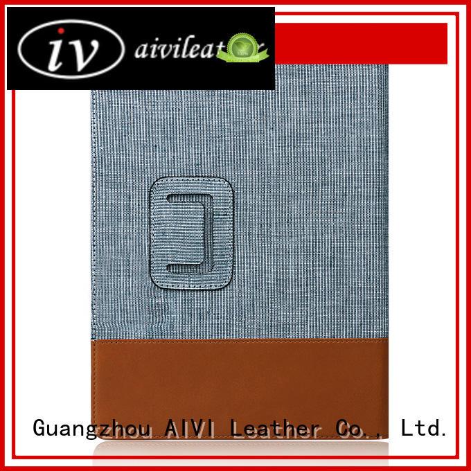 AIVI waterproof black leather ipad case supply for IPad