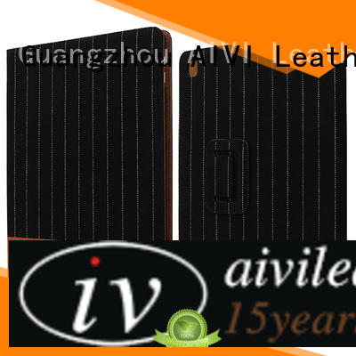 AIVI beautiful black leather ipad case online for laptop