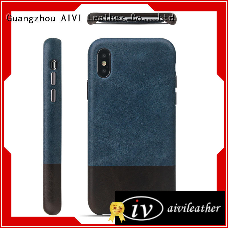 AIVI waterproof fine leather phone cases online for iphone XS