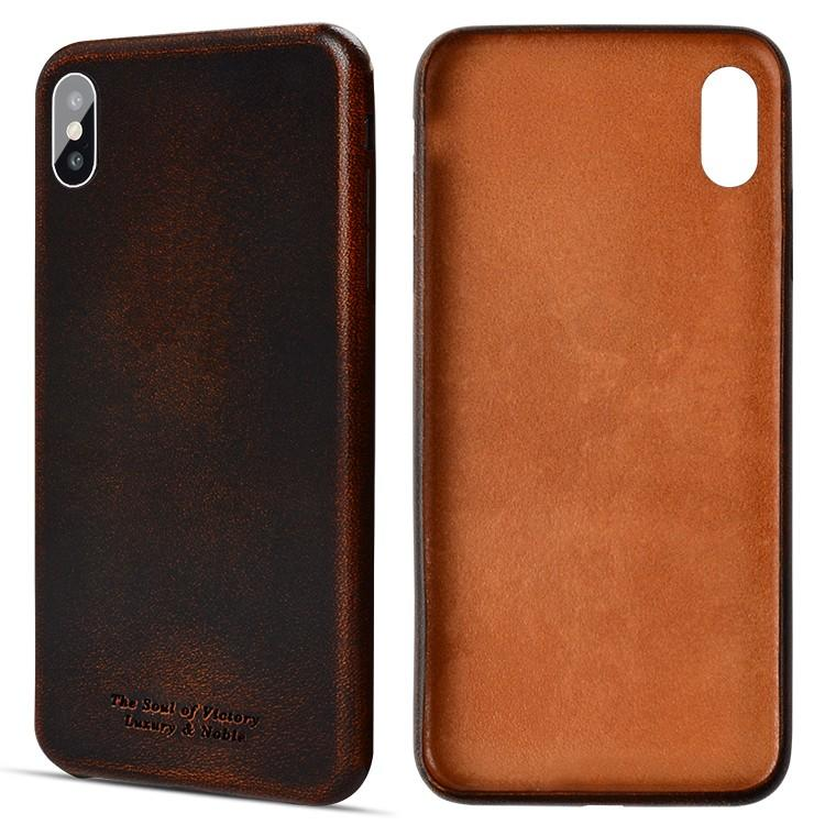 AIVI brown fine leather phone cases online for iphone XR-2