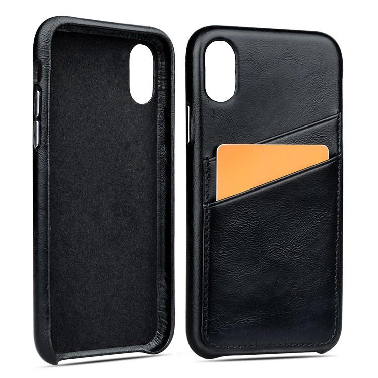 AIVI personalized apple tan leather case factory for iphone X-3