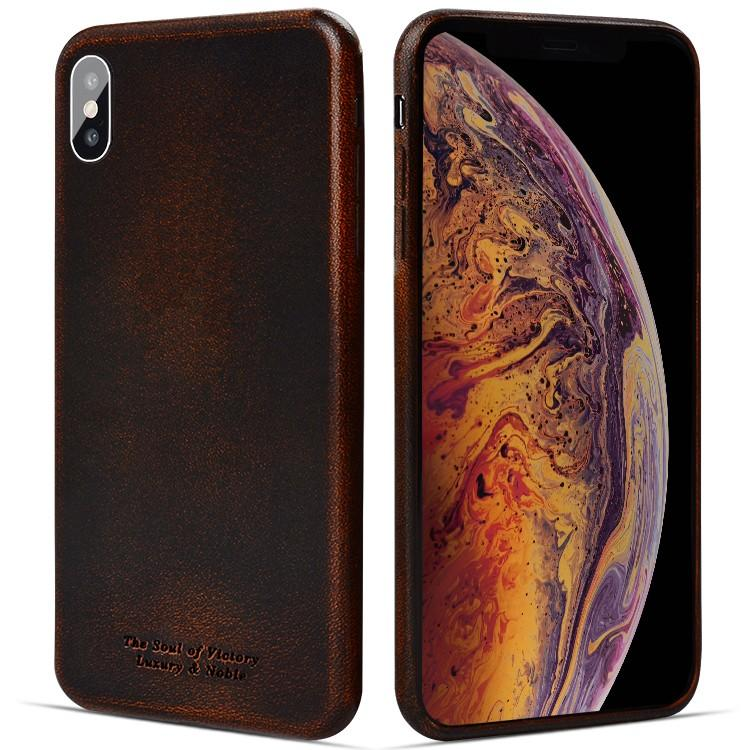 AIVI brown fine leather phone cases online for iphone XR-1