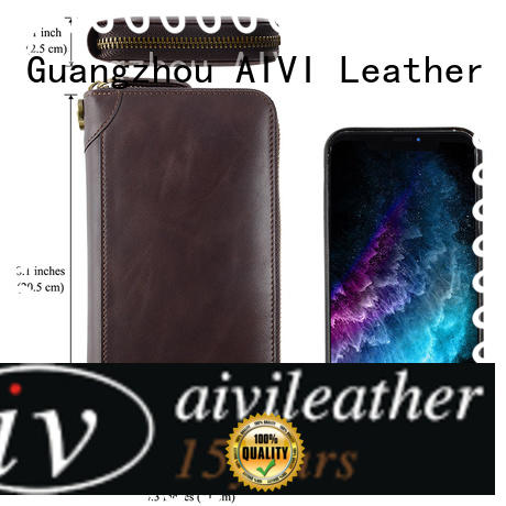 AIVI convenient leather card wallet factory for iphone 7/7 plus