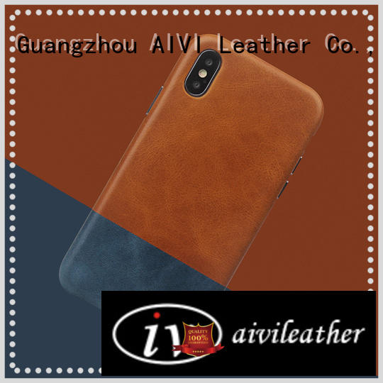 AIVI design green leather iphone case protector for iphone XS Max