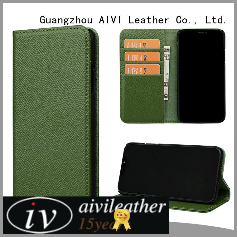 fashion green leather iphone case cover for iPhone XS Max for iphone X