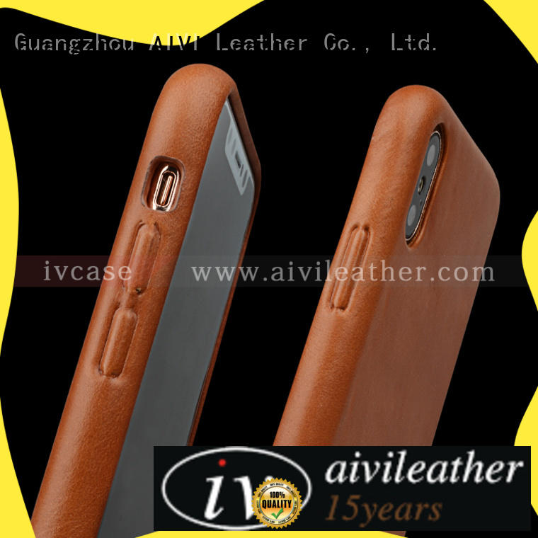 high quality apple blue leather case manufacturer iphone 8 / 8plus AIVI
